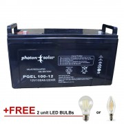 12V 100Ah Solar Battery High Capacity Gel Type Deep Cycle Battery